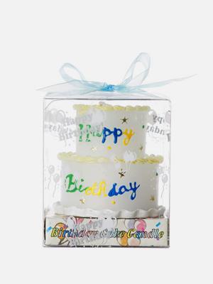 생일 케이크 캔들 흰색 2단 케이크 양초 - K421