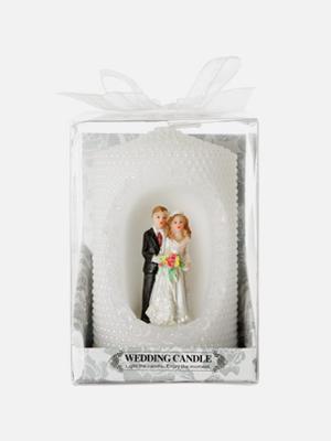 신랑 신부 웨딩 보석 양초 - K428