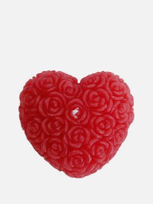 장미 하트 캔들 무향 빨강색 양초 - K426