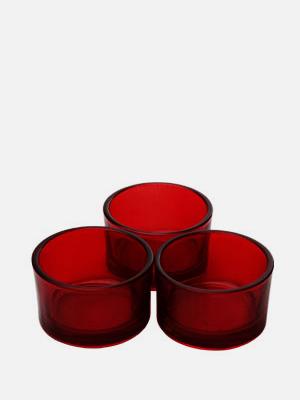 미니 티라이트 홀더 3개 빨강 - K604