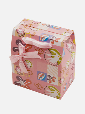 리본 손잡이 종이 선물 상자 - K510