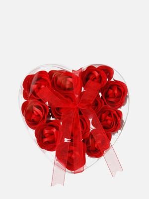 비누 장미 12개, 빨강색 - K503
