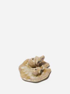인센스 홀더 세라믹 도기 향받침 - 코끼리 2마리
